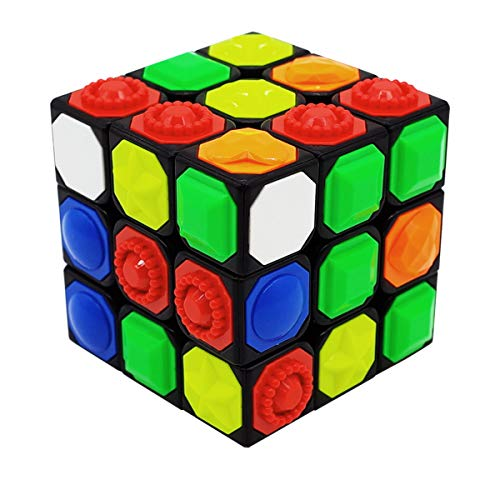Speed Cube 3X3x3 Magic Cube Tactile Cube for Blind 3D Embossed Braille Fingerprint Kids Puzzle