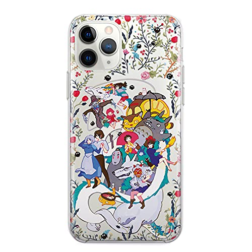 Anime For Google Pixel 4 3 2 3a XL 3aXL 4xl 2XL 3XL Case LG G5 G6 G8 My Neighbor Totoro Haku Spirited Away Kikis Delivery Service Gifts Clear Phone Cover