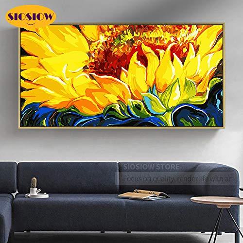 Van Gogh paesaggio Scenario di fiori di girasole Kit per Diamond Painting 5D DIY Regali per adulti e bambini Mosaico di diamanti immagini artistiche per decorare la casa(30x60 Diamante quadrato)