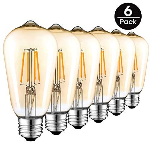 Bombillas LED Vintage E27, Retro Bombilla de Filamento Edison 4W(equiv