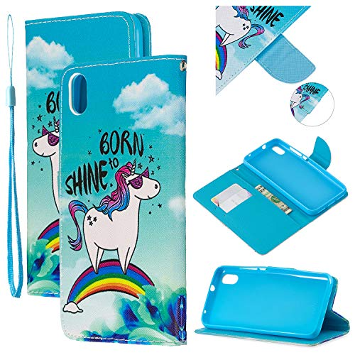 Metermall New for For Redmi 7/7A/Note 7/Note 7 Pro Overall Protective Phone Shell Anti-scratch Smartphone Case Lovely Cartoon Pattern Rainbow horse Redmi 7A