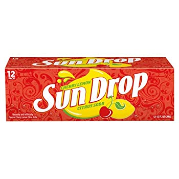 Cherry Lemon Sun Drop Citrus Soda 12 fl oz 12 pack
