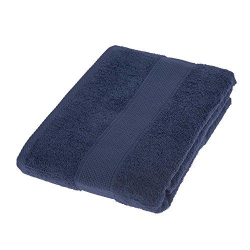 HOMESCAPES Toalla de baño Grande, 100% algodón Turco Absorbente y Suave, Color Marino 100 x 150 cm