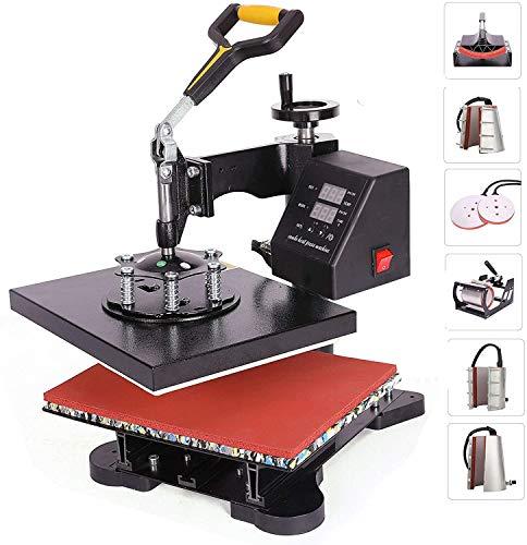 CO-Z 8 in 1 Heat Press Machine, 30×22cm 600W Professional Heat Press, 360...