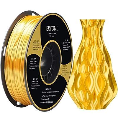 ERYONE Silk PLA Filament, 1.75mm PLA Filament, Silk Gold PLA, Silky PLA, 3D Printing Filament PLA for 3D Printer and 3D Pen, 1kg 1Spool