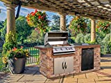 Cal Flame LBK-710-AS-Z Master Chef 710AS Outdoor BBQ Kitchen Island, Earth Tone