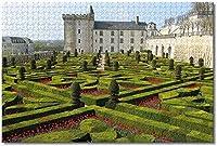 緑の植物と城-大人のための1000ピースのジグソーパズル脳の挑戦のための子供大規模な教育知的ゲーム家の装飾-50cmx75cm
