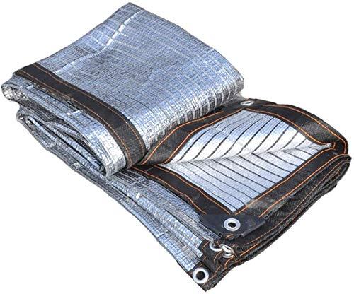 Lanrui Sonnensegel 80% Reflective Aluminet Schatten Tuch Multi Use UV-Schutz Netting for Bedachung Fenster Decks Porches Pergolas (Größe: 1m x 2m) Größe: 4m x 6m (Size : 3m x 4m)