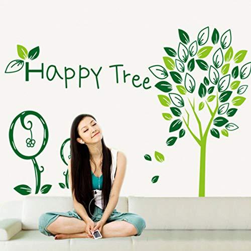 TYLOLMZ afneembaar papier voor decoratie vinyl muursticker aan de muur voor kinderkamer aftrekplaatjes huis sticker meisje happpy boom sticker