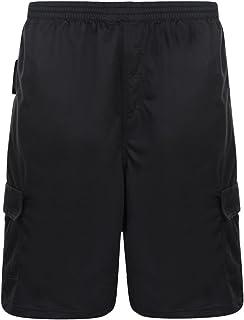 Kam Jersey Cargo Shorts - Black 2XL 3XL 4XL 5XL 6XL 7XL 8XL