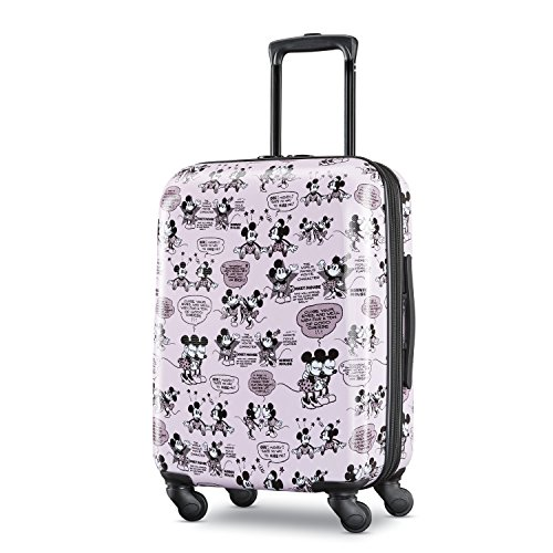 American Tourister Disney Hardside Luggage with Spinner Wheels, Mickey and Minnie Romance, Carry-On 21-Inch