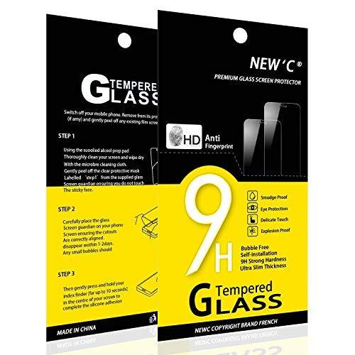 NEW'C 2 Stück, Schutzfolie Panzerglas für HTC Desire 626, Frei von Kratzern, 9H Festigkeit, HD Bildschirmschutzfolie, 0.33mm Ultra-klar, Ultrawiderstandsfähig