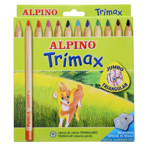 Alpino-490251 Pack de 12 lápices, Colores Surtidos, Multicolor, única (Industrias Massats 113)