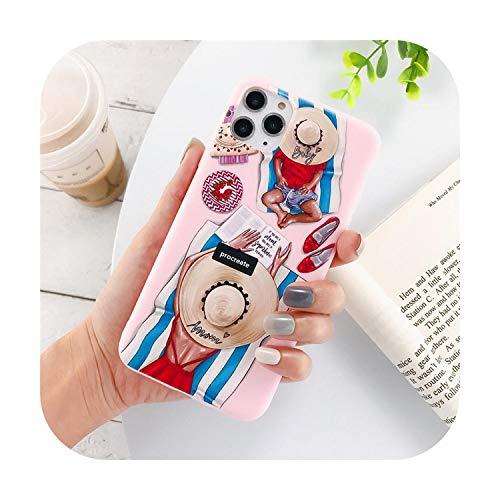 Phonecase - Carcasa de silicona para iPhone 7 8 6 6S Plus 11 Pro X Xr Xs Max 5 5S Se Mujer Niña Mamá Bebé Suave Cubierta Trasera