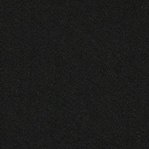 Fabulous Fabrics Filz schwarz, Uni, 45cm breit, 5 mm Stärke – Filz zum Nähen von Taschen – Meterware erhältlich ab 0,5 m