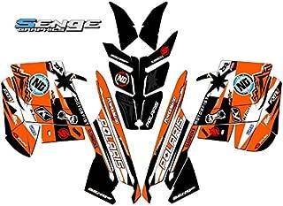 Compatible with Polaris 2010-2014 RUSH Savage Orange Sled Wrap Kit