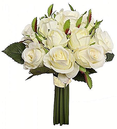 44 cm blanc d/'Art Formano Art Fleurs Artificielle Magnolia branche Real Touch L