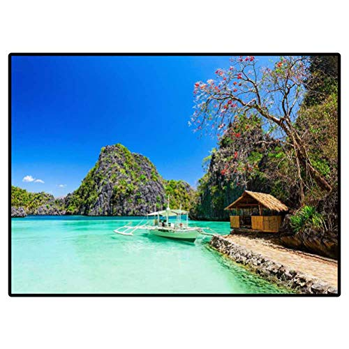 Outdoor Carpets Patio Filipino Boat in The Sea Coron Island Philippines 559004887 Area Rugs Carpets Rugs for Living Room 4 X 5 Ft