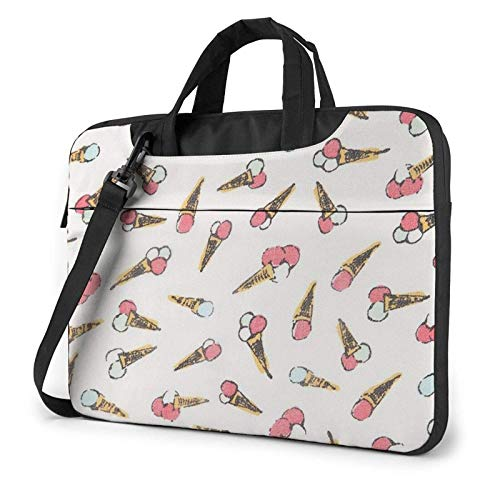 XCNGG Computertasche Umhängetasche Laptop Bag, Watercolor Ice Cream Business Briefcase Protective Bag Cover for Ultrabook, MacBook, Asus, Samsung, Sony, Notebook 13 inch