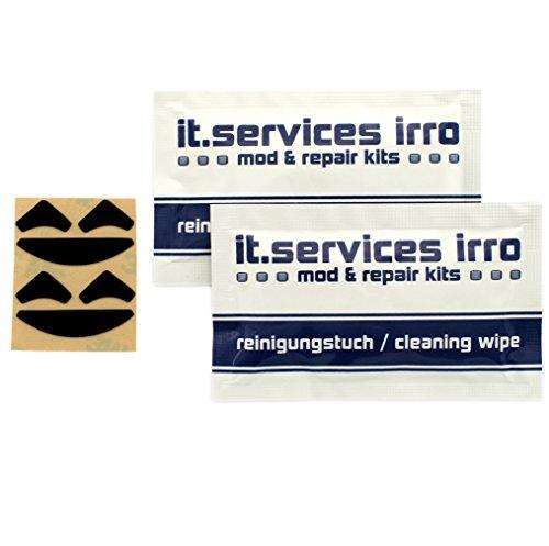 IT-Services Irro 2X Sets Glides/Mausgleiter/Mausfüße passend für Razer DeathAdder/DeathAdder Chroma, inkl. 2 Reinigungspads
