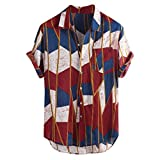 Camisa Coconut para hombre texturizada algodón africano – Camisa Jaminy ligera de manga corta transpirable...