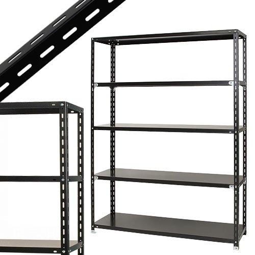 スチールラックのキタジマ NC-1500-21 幅150×奥行45×高さ210cm 5段 ブラック 70kg/段