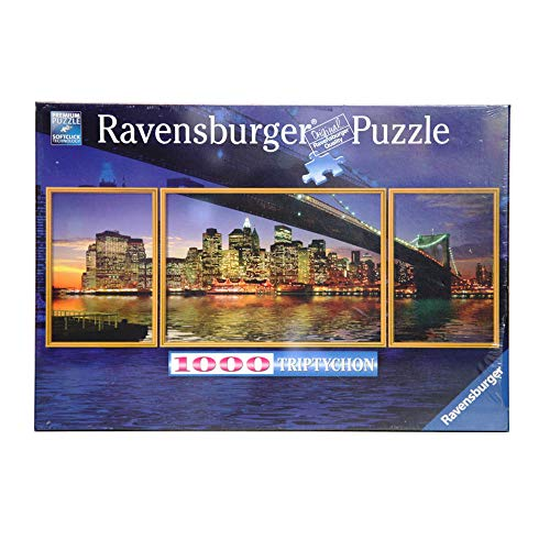 Ravensburger 19906 - New York: Brooklyn Bridge - 1000 Teile Triptychon Puzzle