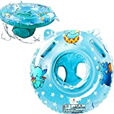 Baby Swimming Float, Inflatable Swimming Ring with Float Seat, Learn to Swim, Swim Pool Bathing Accessories, Suitable for Children Kids Infants and Toddlers from 6 -36Months (Blue)