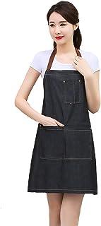 Hola felices compras Delantal de Chef, Delantal de Cocina, Comedor y Delantal de Cocina casera (Black-C)