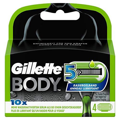 Gillette Body5 Rasierklingen für Körperrasierer mit Hautschutz, 4 Ersatzklingen