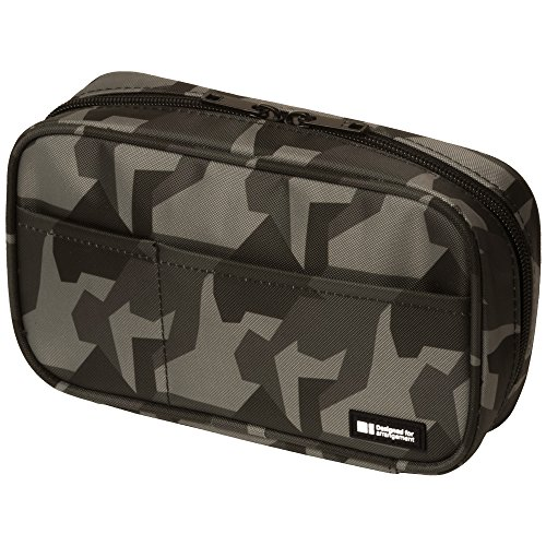 professional LIHIT LAB Zip Pen Bag, 7.9 x 2 x 4.7 inches, Camouflage Green (A7551-131)
