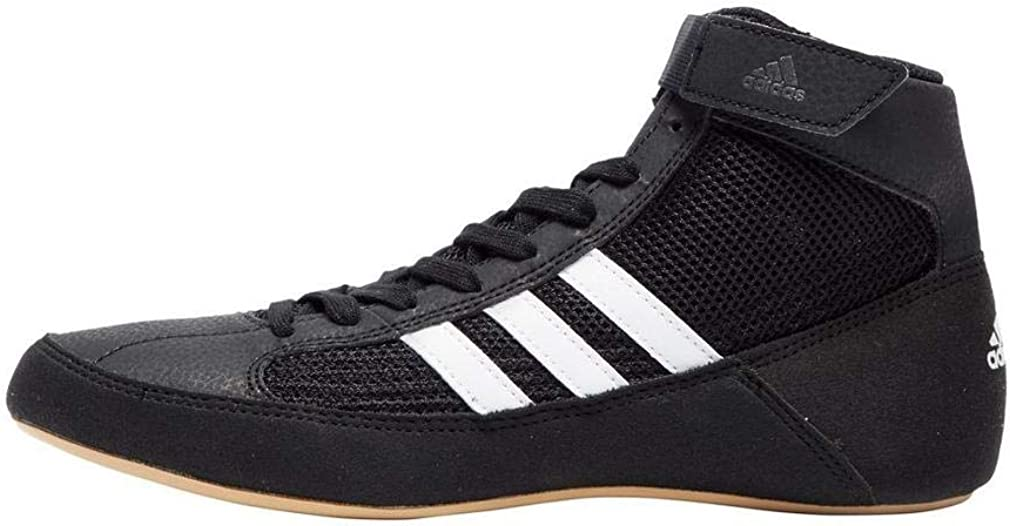 adidas Havoc Kids Junior Wrestling Trainer Shoe Boot Black