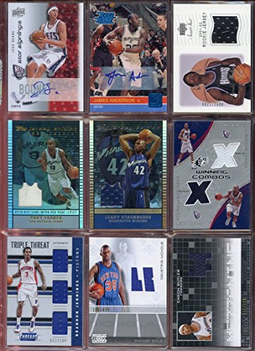 NBA Basketball Card Relic Game Used Jersey Autograph Hit Lot w/ 10 Relic Autograph or Jersey Cards Per Lot - PERFECT PARTY FAVOR or GIFT for NBA Collector or Fanatic Basketball Fan !