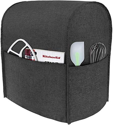 Taufey Dust Cover with Pockets Compatible with 4.5 Quart and All 5 Quart KitchenAid Stand Mixer Gray