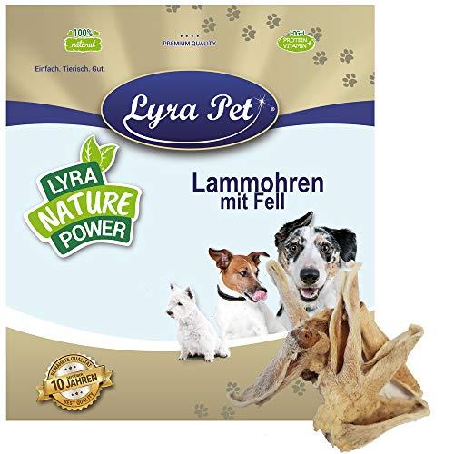 Lyra Pet® 5 kg Lammohren mit Fell 5000 g getrocknet Kausnack wie Rinderohren Hundefutter Kauartikel Leckerli fettarm für Allergiker geeignet