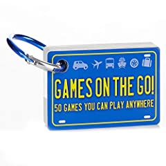 FOR THE WHOLE FAMILY: Turn family road trips and moments of in-between time into great family fun. Games on the Go is a collection of 50 games and activities that can be played anywhere at any time. ENDLESS QUESTIONS: This travel games collection inc...