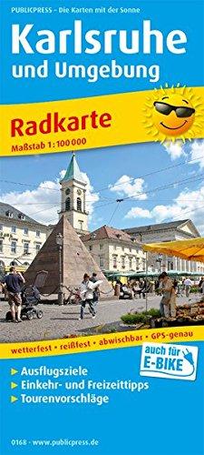 Karlsruhe und Umgebung: Radkarte mit Ausflugszielen, Einkehr- & Freizeittipps, wetterfest, reissfest, abwischbar, GPS-genau. 1:100000 (Radkarte: RK)