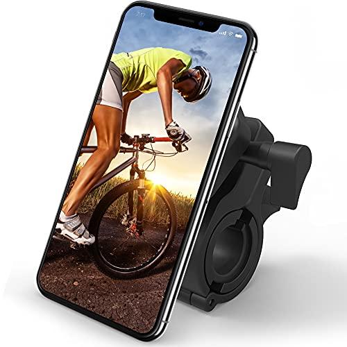 MANGANESE El soporte de teléfono para bicicleta es un soporte universal para teléfono de bicicleta que es adecuado para cualquier smartphone de aduanas y es práctico.