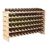 72 bottle wine rack - ZENY Wine Rack 72 Bottles Holder Stackable Storage 6 Tier Solid Wood Display Shelves (#1)