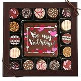 Chocolate Works Valentine's Day Chocolate Card & Truffles 17 Piece 'Be My Valentine' Gift Set