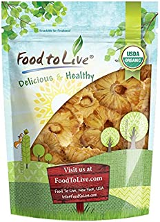 Organic Dried Pineapple Rings by Food to Live — Non-GMO, Unsulfured, Unsweetened, Bulk (2 Pounds)