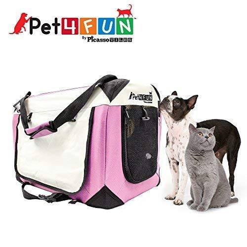 PET4FUN® PN950 Foldable Pet Puppy Dog Cat Carrier & Travel Crate