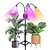 Grow Lights with Stand,Juhefa Full Spectrum Tri-Head 60W LED Floor Plant Light for Indoor Plants,Timing 3/9/12H,Tripod Adjustable 15-47 inch