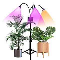 🌻🌱2020 Upgrade Floor Standing Grow Lights - adjustable tripod stand extendable from 15 inches to 47 inches, just lock it at desired length for your preferred use, you can stand it on the floor adjust the desired angle according to the needs of the pl...