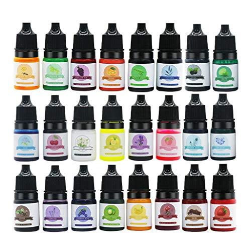 CCIIO 24 Couleurs Résine Époxy Pigment Transparent UV Résine Colorant Résine Colorant Artisanat