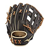 Mizuno GPS1BK-700DH Pro Select Outfield Baseball Gloves, 12.75', Left Hand