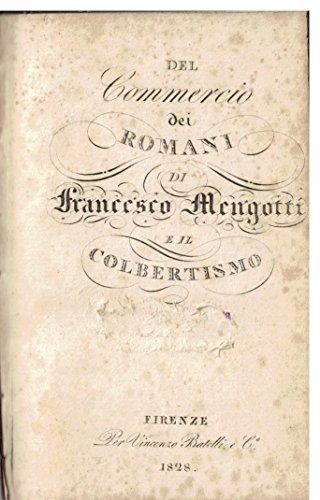 Del commercio dei romani e il colbertismo