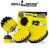 Drillbrush 4 Piece Nylon Power Brush Tile and Grout Bathroom Cleaning Scrub Brush Kit - Drill Brush...