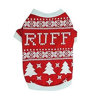 PanDaDa Noël Petite veste pour animaux Vêtements pour chien Chemise pour chien Vêtements pour animaux de compagnie T-shirts pour chiots Costumes pour chiens Vestes en calin