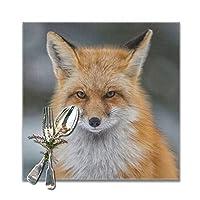 狐 ランチョンマット 食卓マット プレースマット おしゃれ 防汚 滑り止め 撥水 断熱 飾り お手入れ簡単 30 X 30cm 6枚セット